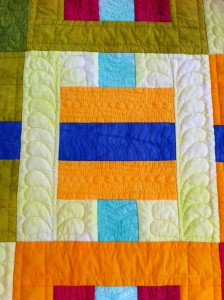 A close up of the quilting.