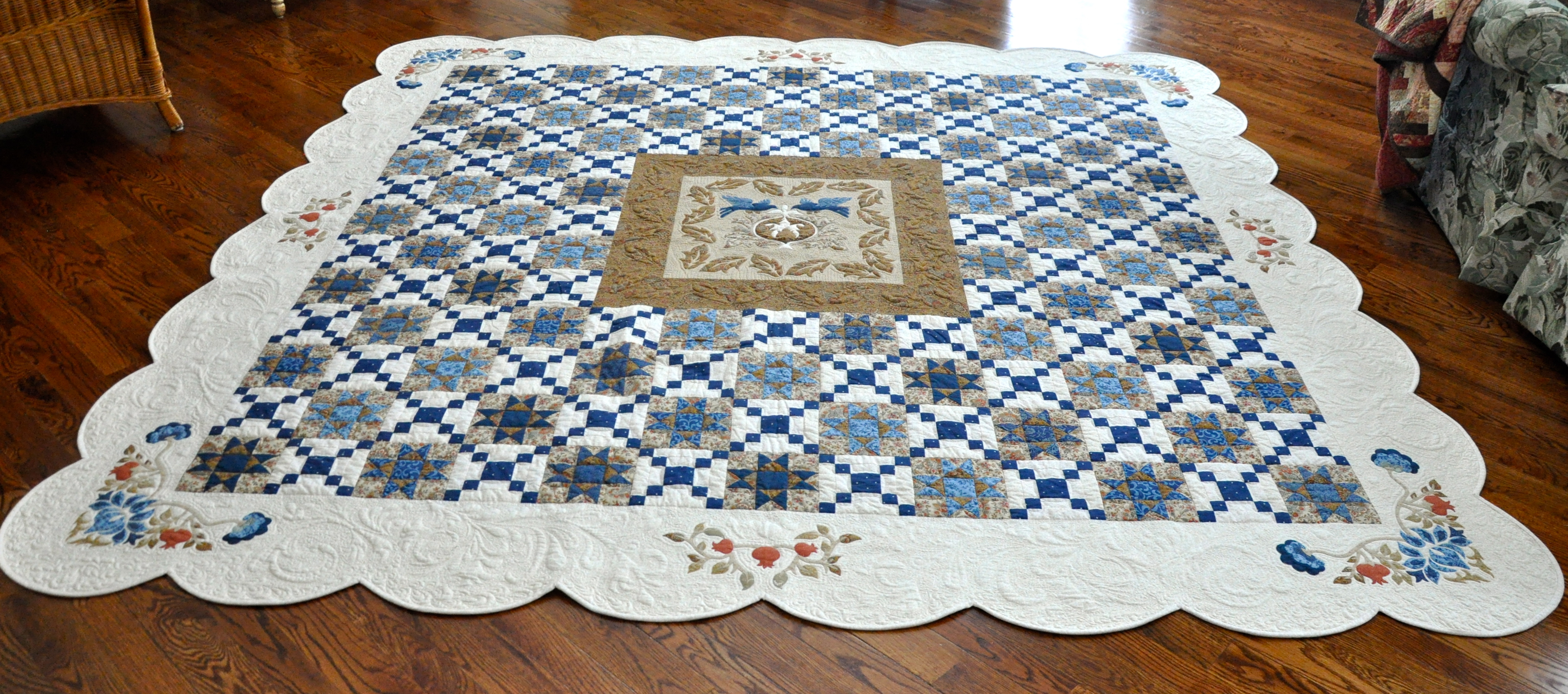 commission d the quilt for of size pin quilting queen pcb love