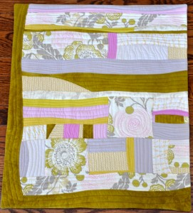"Flower Garden Quilted Wallhanging Commercial and hand-dyed cotton, wool batting 19.5"" by 23"" Marion Meyers 2014 $175"