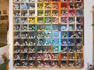 Look at this fabulous selection of encaustic oil sticks at R&F Encaustics in New York.