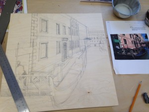 Venice: filling in the drawing